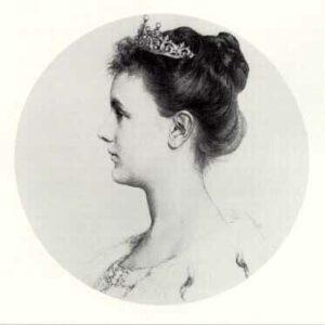 Portretfoto van Koningin Wilhelmina