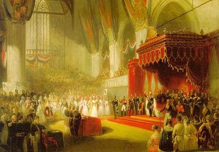 Inhuldiging Koning Willem II in de Grote Kerk in Amsterdam, 1840